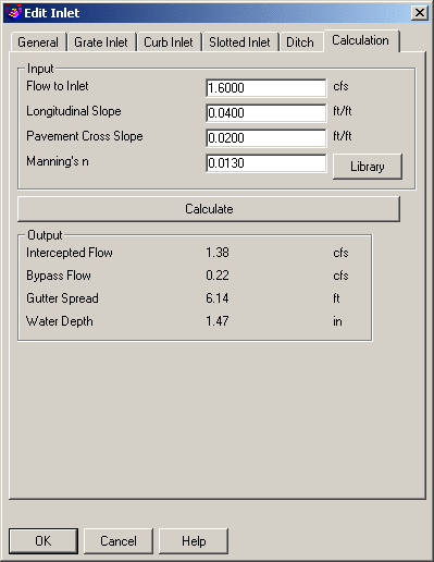 gutter spread calculation fdot