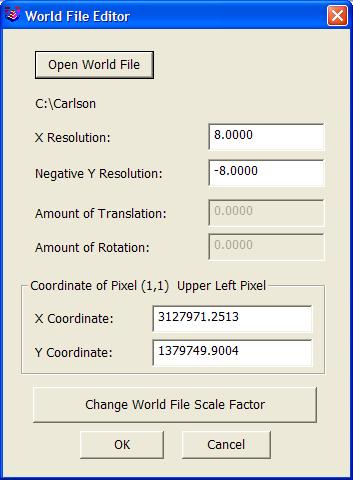 Edit World File